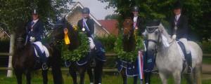 die Medaillenträger der Kreismeisterschaft 2015: v.l.n.r.: Svane Schwenn, Julia MArie Sdunnus, Meike Oelerich und Celina Witt